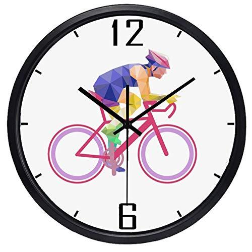 Horloge Murale Cyclistes Sport La Nouvelle Marque Muet Conception Horloge Murale Durable Cercle Horloge Classique 12 Pouces B429B
