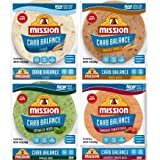 Mission Carb Balance Tortilla Variety Pack - Flour, Whole Wheat, Spinach Herb, and Tomato Basil