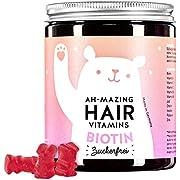 Bears w Benefits I Hair Gums Frauen I Zuckerfrei Made in Germany I Nahrungsergänzungsmittel hochdosiert I Biotin, Folsäure, Zink