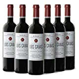 Vino Tinto Crianza Luis Cañas - Caja Vino 6 Botellas - Vino Tinto D.O. Rioja - Elaborado con 95% Tempranillo y 5% Garnacha - Un gran vino calidad precio