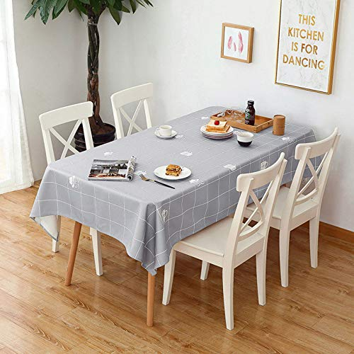 WHDJ Tablecloths Cotton Linen PVC,Anti-Wrinkle Thicken Table Cloth for Home,140cmx230cm Anti-Greasy No-Slip Soft Table Cover