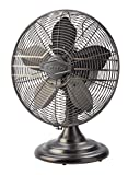 Lasko R12210 Classic Metal Table Fan with 12-inch Fan Blade for Cooling Comfort in Homes, Offices, and Bedrooms, Bronze