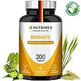 Bierhefetabletten Bierhefe + Selen + Zink Tabletten 100% Natürliche Aktivhefe Premium Qualität – Nahrungsergänzungsmittel Vitamine für schöne Haare, gesunde Haut + kräftige Nägel – Vegan