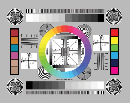 """DGK Color Tools High Resolution 8.5x11"""" Chrome SD Professional Lens Test Chart, 3-Pack"""