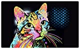 Drymate Pet Placemat, Dean Russo Designs, Dog Food Mat, Cat Food Mat, Zorb-Tech Anti Flow Technology for Surface Protection (USA Made) (12' x 20', Catillac New)