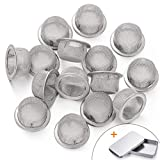 Stanker 15pcs 0.5 Inch Premium Diameter Stainless Steel Screen with Storage Box