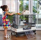 Large 2-Level Indoor Small Animal Pet Habitat Cage Guinea Pig Hamster...