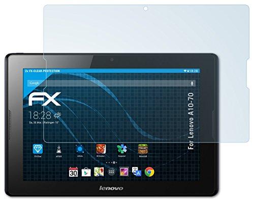 atFolix Schutzfolie kompatibel mit Lenovo A10-70 Folie, ultraklare FX Bildschirmschutzfolie (2X)