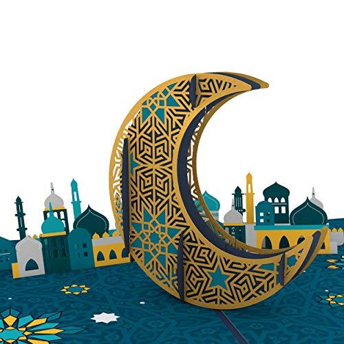 Lovepop Eid Mubarak Pop-up-Karte, 3D-Feier Karte für Feiertage