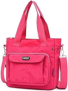 LIMING Nylon Casual Backpack Lightweight Multi-Pocket Shoulder Bag Large Capacity School Bag (Color : Blue, Size : 29 * 10...