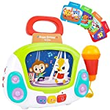 BUBHFYT Musical Toy for Girls 1 2 3 4 5 year old , Karaoke Machines Music Player with Singing Recoding & Voice...