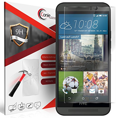 Conie 9H658 9H Panzerfolie Kompatibel mit HTC One M9, Panzerglas Glasfolie 9H Anti Öl Anti Fingerprint Schutzfolie für One M9 Folie HD Clear