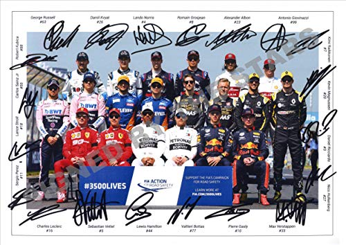 Stunning Quality F1 Drivers Signed/Autographed Photo Print Lewis Hamilton,...