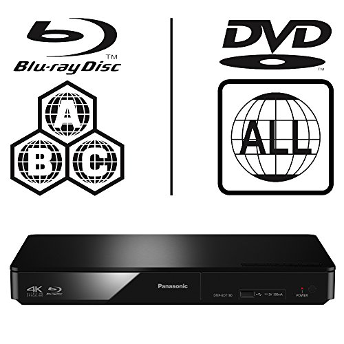 Panasonic DMP-BDT170EB Smart 3D 4K Upscaling ICOS Multi Region All Zone Code Free Blu-ray Player. Blu-ray regions A, B and C, DVD regions 1-8. YouTube, Netflix etc. HDMI output. HDD Playback.