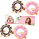2 Pieces Donut Glasses Donut Costume Glasses Novelty Party Donut Eyeglasses for Funny Snack Party Donut Birthday Party Favors Accessories