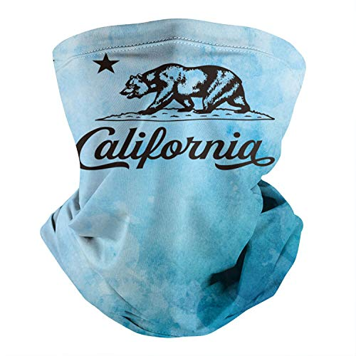 California-State-Flag-Art- Multifunctional Bandana Face Mask Face Cover Neck Warmer for Cycling Outdoor
