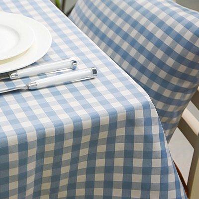 Creek Ywh tafelkleed, blauw, Noors, waterdicht, eenvoudig, tafelkleed, vierkant, stof, klein, 110 x 170 cm