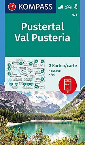 Carta escursionistica n. 671. Val Pusteria - Pustertal 1:25.000 (set di 3 carte): 3 Wanderkarten 1:25000 im Set inklusive Karte zur offline Verwendung in der KOMPASS-App. Fahrradfahren. Skitouren.