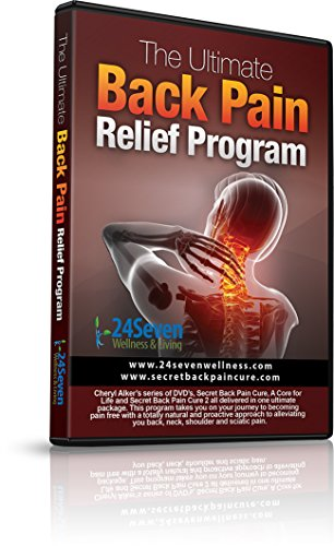 24Seven Wellness & Living The Ultimate Back Pain Relief Program Three Separate One Hour DVD's Including Yoga Type Stretches, Pilates Based Core and Strength Exercises.