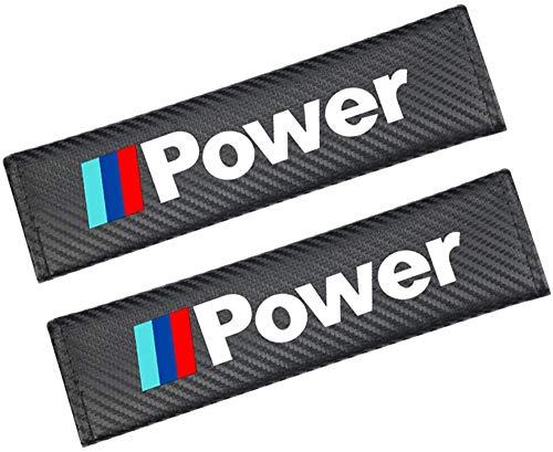 DENGD 2 Piezas Fundas De Protección Acolchado De Seguridad Automóvil, para BMW M Power E90 E91 E92 E93 M3 E60 E61 F10 F07 M5 E63, Almohadillas para Cinturón Hombro, Cojines La Correa
