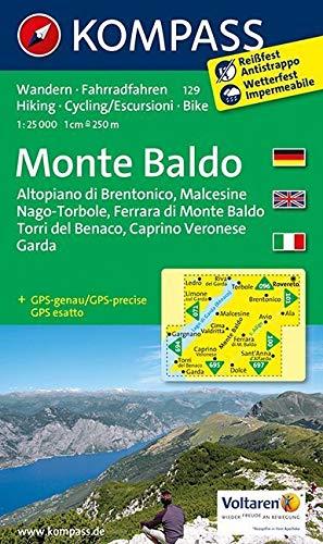 Monte Baldo: Wanderkarte mit Radtouren. GPS-genau. 1:25000 (KOMPASS-Wanderkarten, Band 129)