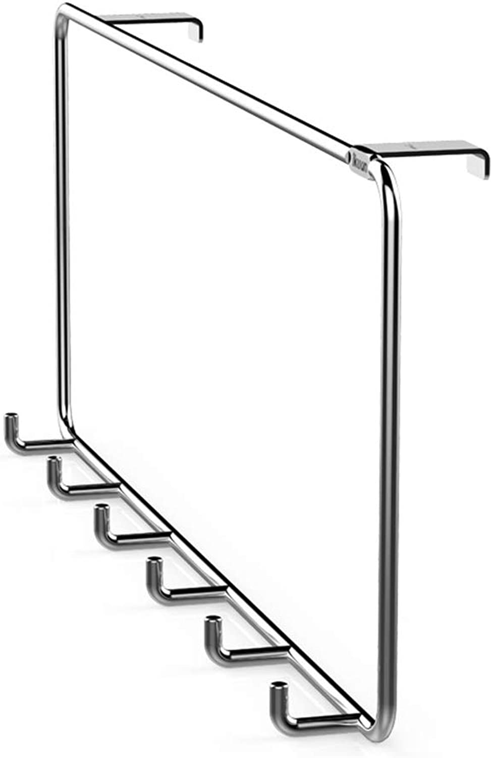 Coat Rack Stainless Steel Wall Mounted Over Door Hooks Heavy Duty Clothes Hat Holder (6 Hook)