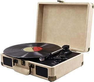 WHSS Lecteur de disques vinyle, gramophone Bluetooth, lecteur de vinyle rétro, haut-parleur stéréo Bluetooth (350 x 255 x ...