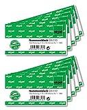 Sigel GN110 VE10 - Bloc de billetes numerados (10 blocs de 100 números, del 1 al 1000), colores surtidos