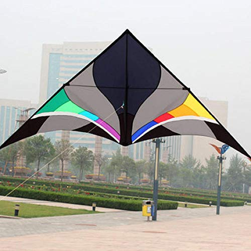 WRENDYY Kite Outdoor Fun Sports 3m Power Nylon Power Triangle Kite with Kite Kandle and Line Flying