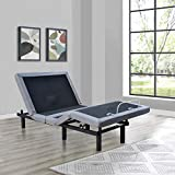 Marabell Adjustable Bed Frame Base with Back & Foot Massage, Wireless Remote
