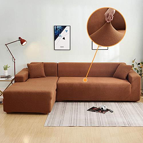 B/H Muebles Elegante Sofa Cubre,Funda de sofá Acolchada de Lana de maíz, Funda de sofá Completa-Yellow_140-180cm,Fundas de sofá de Esquina