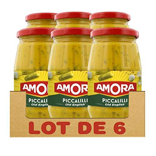 Amora Salsa De Piccalilli Inglés Antiguo 435G (Lote De 6)