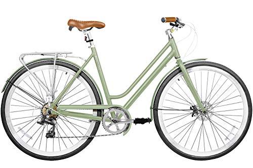 700 (28') Light Aluminium Disc Brake 7 Speed Fire Shifter City Bike Commuter Comfort Gama Bikes Metropole Women Jade