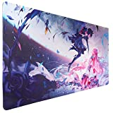 U&G Extended XXL Gaming Mouse Pad (35.4x15.7 in), Large Non-Slip Rubber Base Mousepad with Stitched Edges,Waterproof Keyboard Mouse Mat Desk Pad for Work, Game, Office (Flying Girl)