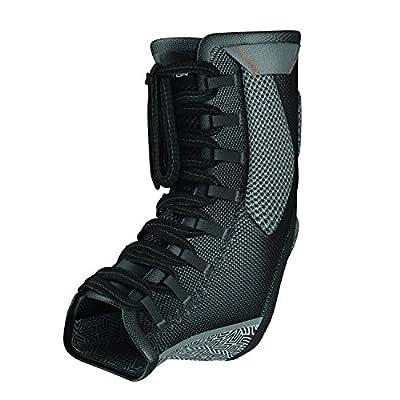 Compression Ankle Brace - Shock Doctor 849 Ultra Gel Lace Up Ankle Support - Black, X-Large - Includes 1 Brace