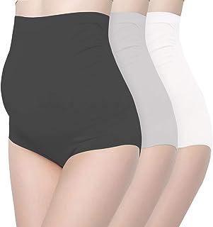 6fdb81804e1 Surewin Women s Seamless Over Bump Maternity Underwear high Waist Pregnancy  Panties