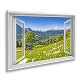 Bild auf Leinwand Fensterblick Schöne Berglandschaft in