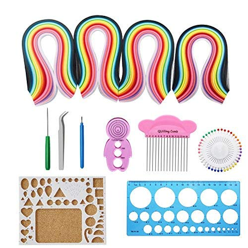 Twshiny Paper Quilling Set, 1040 Pezzi Quilling Art Strisce in 26 Colori con Quilling Tools