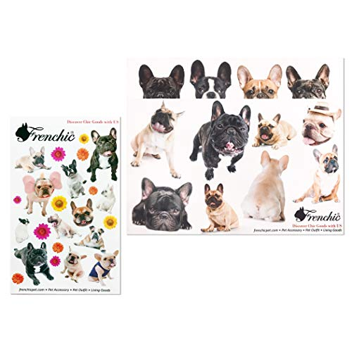 French Bulldog Sticker 2 Designs Kawaii Dogs for Paper Craft Agenda or Luggage Decoration
