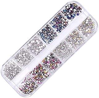AB Nail Art Round Rhinestones Round Beads