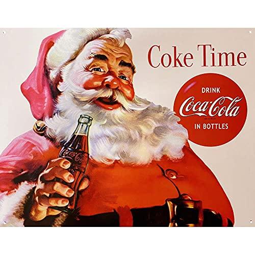La Plaque Publicitaire Coca Cola - Père Noël Santa Claus