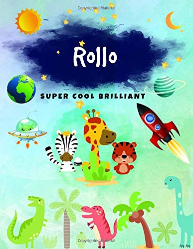 Rollo: Journal, Sketchbook and Notebook Gifts for Boys & Kids - Composition Size (8.5
