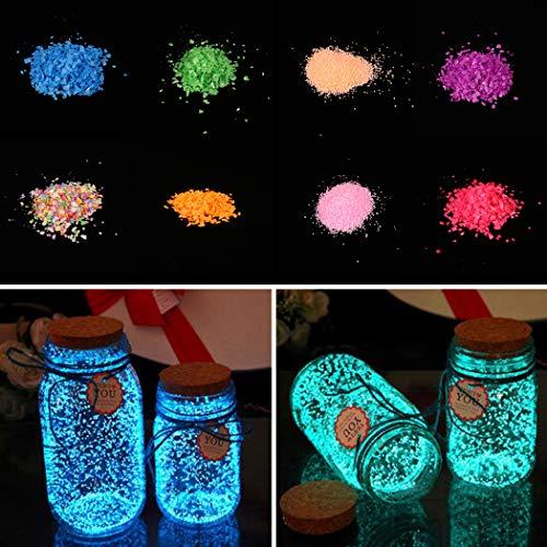 Nisels Sabbia Luminosa 10g Sabbia Fluorescente Splendore Sabbia al Buio - Sabbia Luminosa Decorativa Fish Tank Ornamenti per acquari - Casa, Decorazioni per Feste Arti Forniture