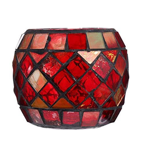 OSALADI Glas Kerzenhalter Mosaik Teelichthalter Votiv Kerzenhalter Weihnachten Esstisch Mittelstücke Hochzeitsdekorationen