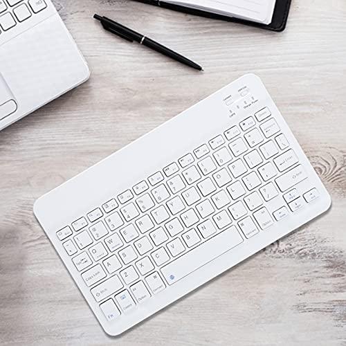 Teclado de computadora, Teclado Bluetooth Teclado ergonómico con Negro/Blanco (Opcional) para iOS/Android/Windows(White)