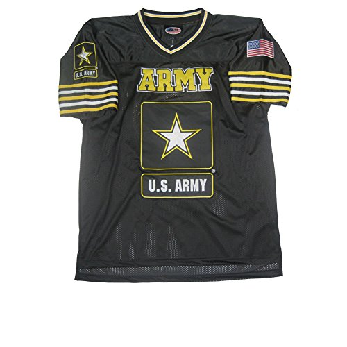 JWM Men's Football Jersey US Army XLarge Black/Gold