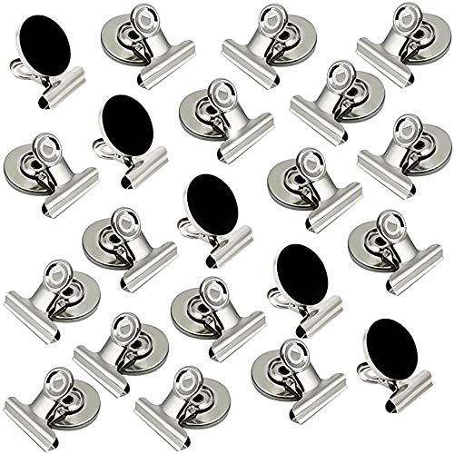 Magnetic Clips 20 Pack Magnetic Hooks Clips Strong Refrigerator Magnets Clips,Fridge Magnets Clips,Whiteboard Magnetic Clips(30mm Wide)
