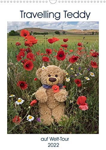 Travelling Teddy auf Welt-Tour (Wandkalender 2022 DIN A3 hoch)