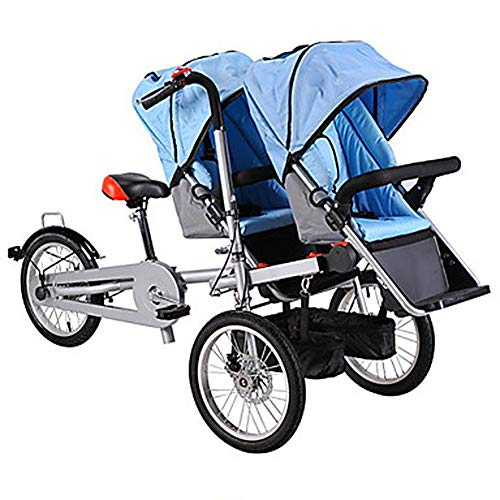 Find Discount LJHHH Folding Tricycle Parent-Child Mother and Child Car Baby Stroller Adults Can Ride...