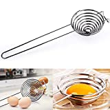 egg separator food grade stainless steel egg yolk white separator filter kitchen gadgets baking tool